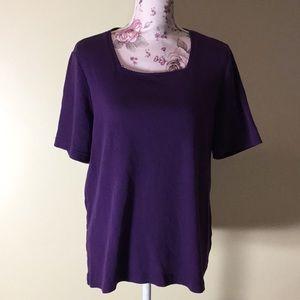 CJ Banks Purple Short-Sleeve Top - Size X (New!)